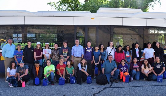 6th graders at Rocky Reach Dam