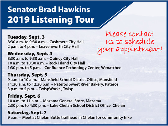 2019 12th District listening tour schedule