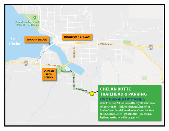 Chelan Butte trailhead map