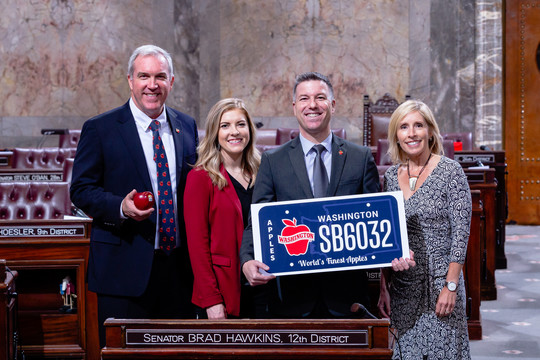 Todd Fryhover, Sen. Hawkins, Toni Lynn Adams and Jennifer Witherbee
