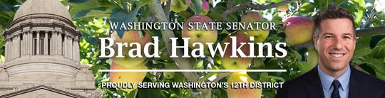 Hawkins yellow apple e-news banner