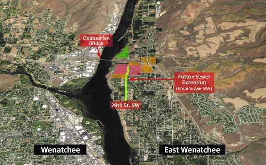 Wenatchi Landing aerial map