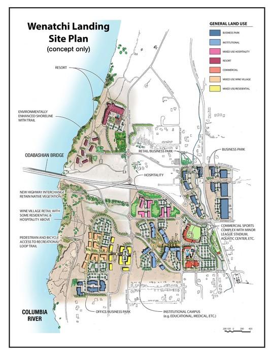 Wenatchi Landing site plan (concept only)