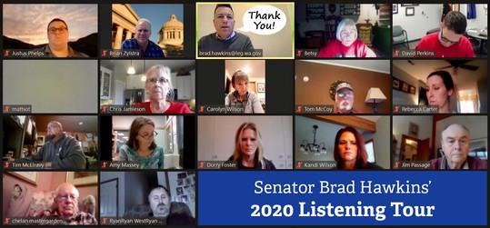 Hawkins 2020 listening tour meeting graphic