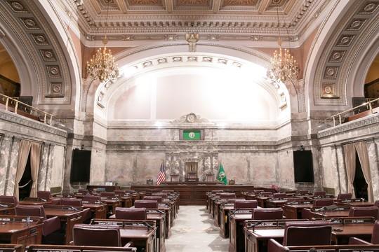 Senate chamber from rear