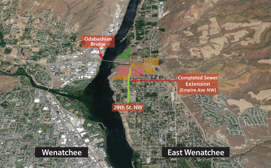 Wenatchi Landing sewer extension map