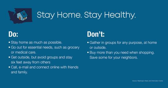 COVID-19 advice graphic