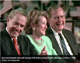 Bob and Elizabeth Dole with President Bush