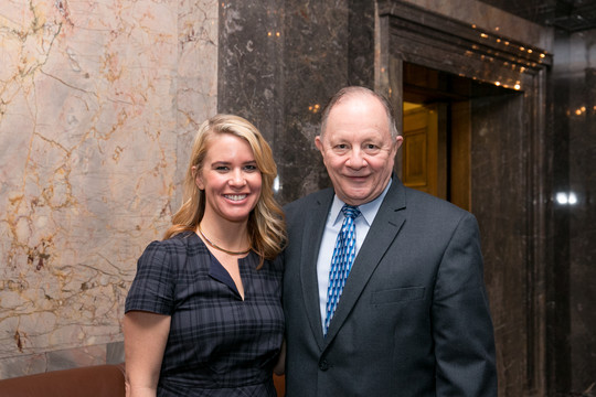 Martha Miller with Sen. Padden