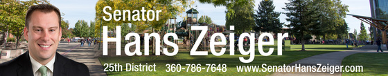Senator Hans Zeiger 25th District Letter from Olympia