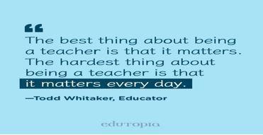 Quote about educators