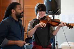 Kid and Violin