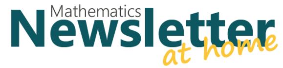 Math Newsletter at home!