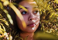 girl in bush