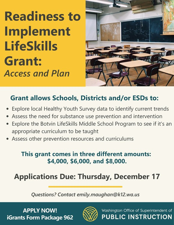Readiness to Implement LifeSkills Grant