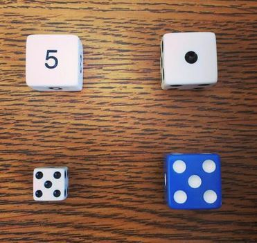 picture of 4 dice