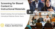 Screening for Biased Content in Instructional Materials