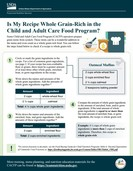 Is My Recipe Whole Grain-Rich in the Child and Adult Care Food Program