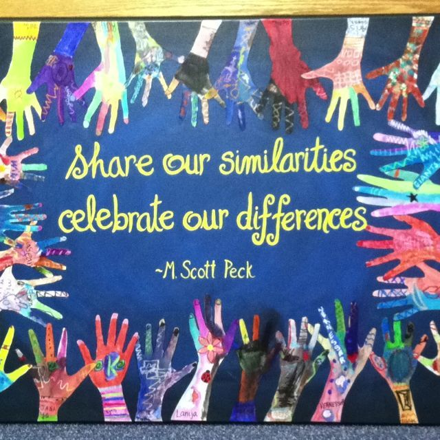 Share similarities celebrate differences
