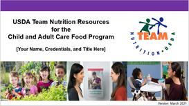 Team Nutrition CACFP Presentation Image