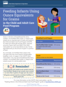 Feeding Infants Using Ounce Equivalents