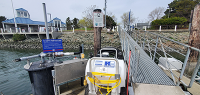 A new pumpout cart at the Cap Sante Marina in Anacortes.