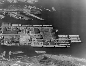 historical aerial photo of Todd Shipping