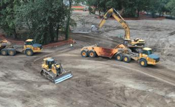 Construction at Wapato Creek Habitat Project