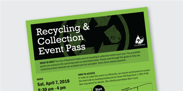 Recycling Event Ticket