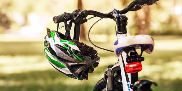Kid's bike and helmet