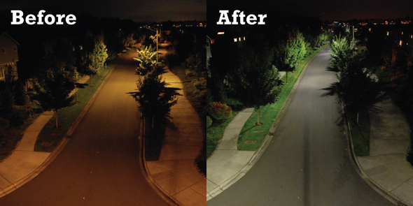 Streetlights - before and after