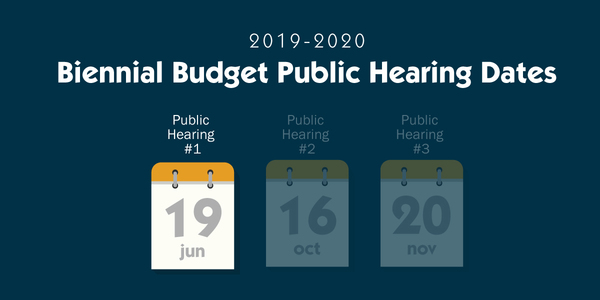 Budget Public Hearing - June 19