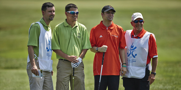 Golf athletes from 2014 Special Olympics