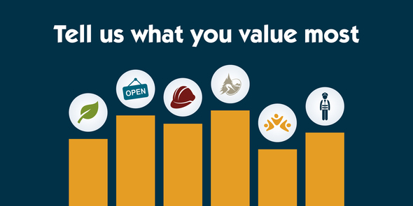 Tell us what you value most