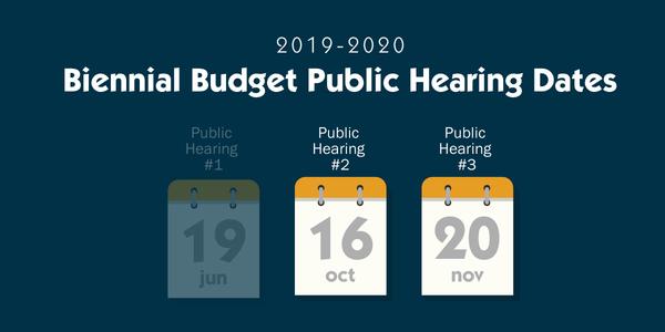 Biennial Budget Public Hearing Dates