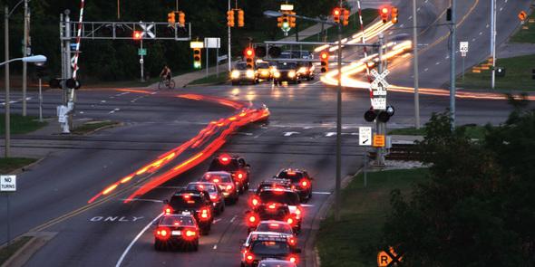 Cars at traffic light