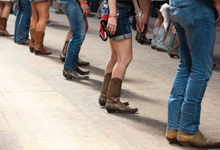 People line dancing