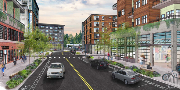 Rendering of Marymoor Village