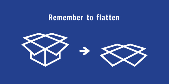 Illustration of flattening a box