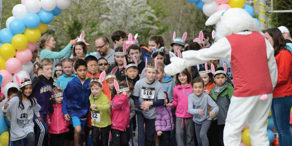 Beat the Bunny participants starting race in 2017