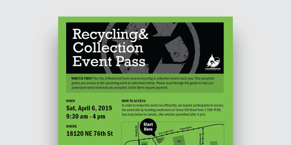 Spring Recycling Event flyer