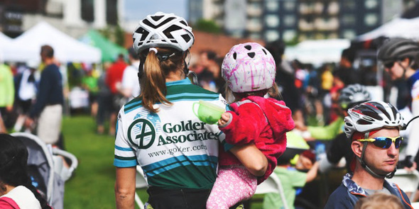 Mother and daughter at a past Bike Bash event