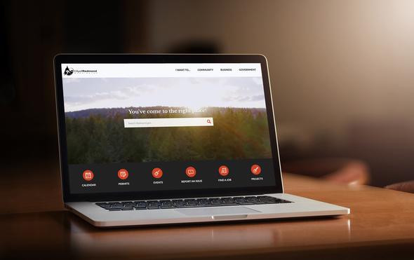 Laptop showcasing the new city website