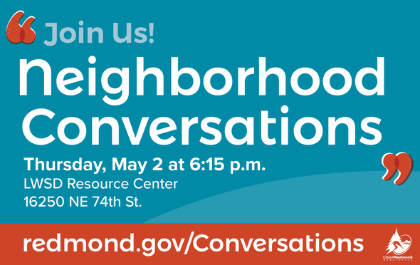 Neighborhood Conversation flyer