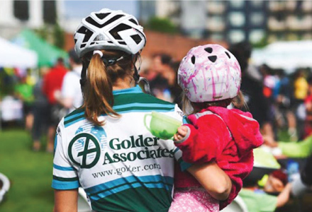 Mother and daughter at previous Bike Bash event