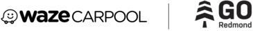 Waze Carpool and Go Redmond logos