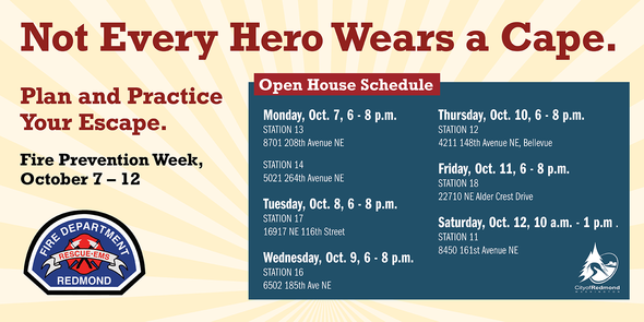 Fire Prevention Week schedule