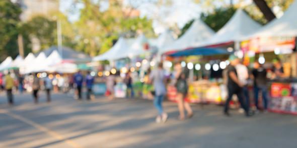 Street market event