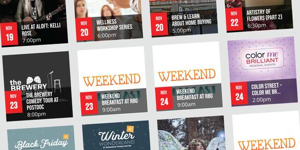 Event listings at ExperienceRedmond.com