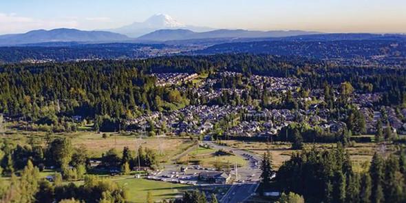 Aerial view of Redmond